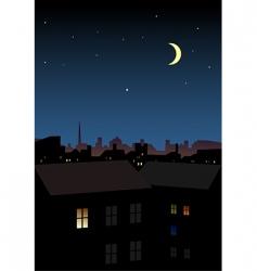 night city vector image vector image