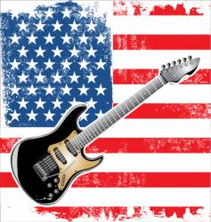 usa guitar american vector image vector image