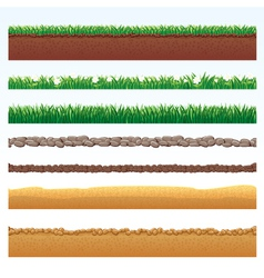 different seamless grounds vector image