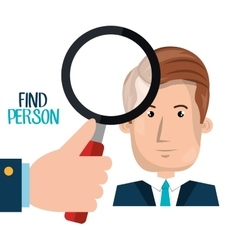 find person design vector image