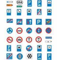 road signage vector image vector image