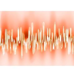 Sound waves oscillating glow light EPS 8 vector image vector image