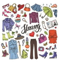 Spring fashionColored Womens wear vector image