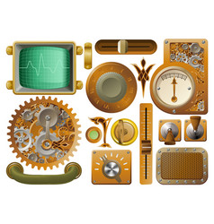 victorian steampunk design elements vector image vector image