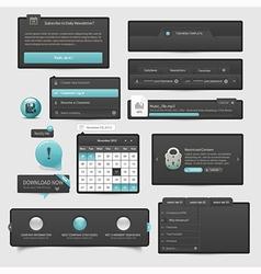 Website template UI elements vector image vector image