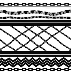 Black and white seamless in ethnic style vector image
