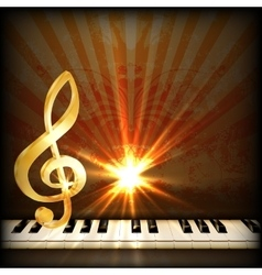 bright musical background with a treble clef and vector image
