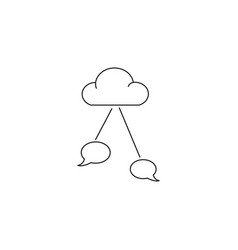 chat cloud icon vector image