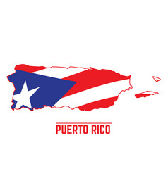 flag and map of puerto rico vector image vector image