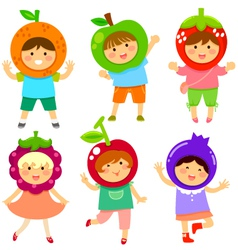 fruity kids vector image vector image