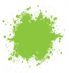 green ink splatter vector image vector image