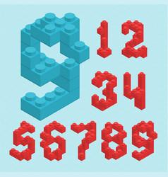 plastic blocs numbers vector image vector image