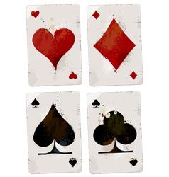 Poker cards set vector image