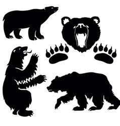 Silhouette bear vector