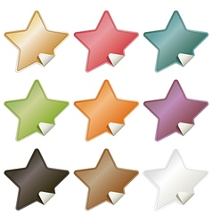 star stickers vector image vector image