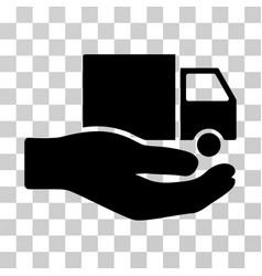 van delivery service hand icon vector image vector image
