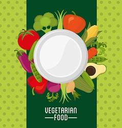 vegetarian menu vector image