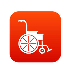 wheelchair icon digital red vector image