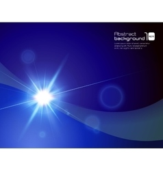 Abstract background with flare vector image