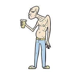 comic cartoon hooligan vector image vector image