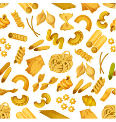 italian pasta seamless pattern background vector image vector image