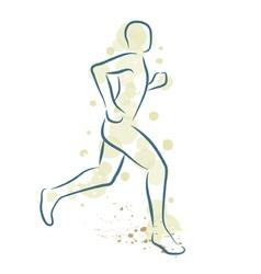 Runner man vector image vector image