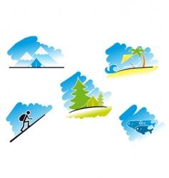 travel symbols vector image vector image