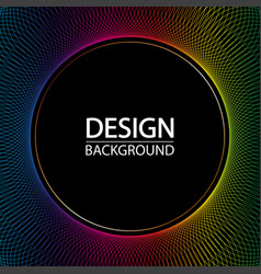 abstract geometric background with dynamic circles vector image