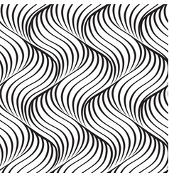 abstract wavy line seamless pattern vector image