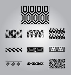 african ornaments collection vector image