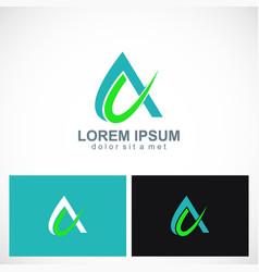 alpha letter a logo vector image