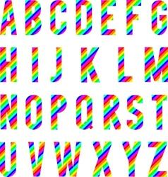 Alphabet Rainbow Style vector image