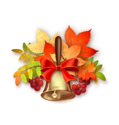Autumn Fall Leaves and Bell vector image