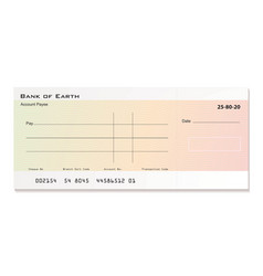 Bank cheque vector