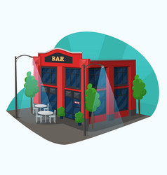 bar or pub building isometric view alcohol sale vector image