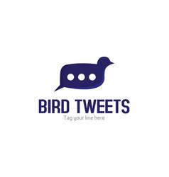 Bird tweets logo vector