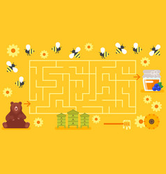 Board game template childrens labyrinth vector