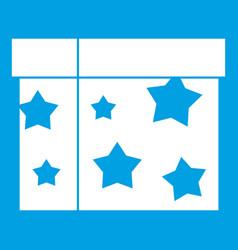 Box magician icon white vector