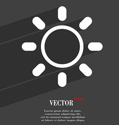 Brightness icon symbol Flat modern web design with vector image