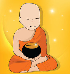 Buddhist-novice vector