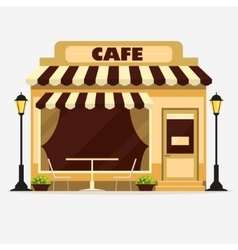 Cafe Street shop facade vector image
