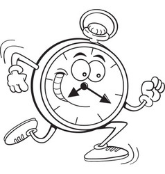 Cartoon running clock vector