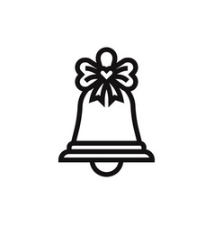 christmas bell icon vector image
