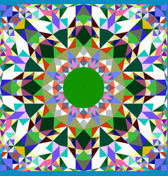 Colorful abstract repeating triangle mosaic vector