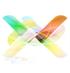 Colors abstract design vector