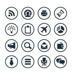 corporate icons universal set vector image