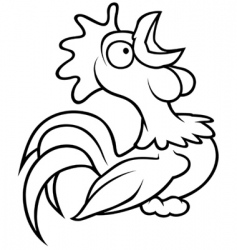 crowing rooster vector image