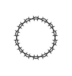 Crown thorns from head jesus christ vector