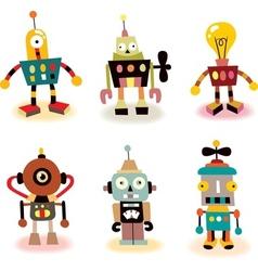 cute robots set vector image