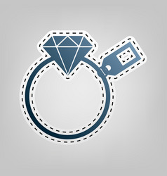 diamond sign with tag blue icon with vector image